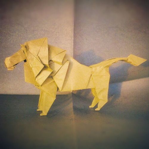 Lion - Hideo Komatsu Catcontent Origami Instamood Instagood