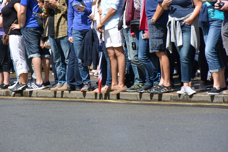 Casual Clothing Day Expectation Eye4photography  From My Point Of View Group Of People Legs Leisure Activity Nikon Outdoors Purist In Photography Road Side By Side The Purist (no Edit, No Filter) Tourists Waiting
