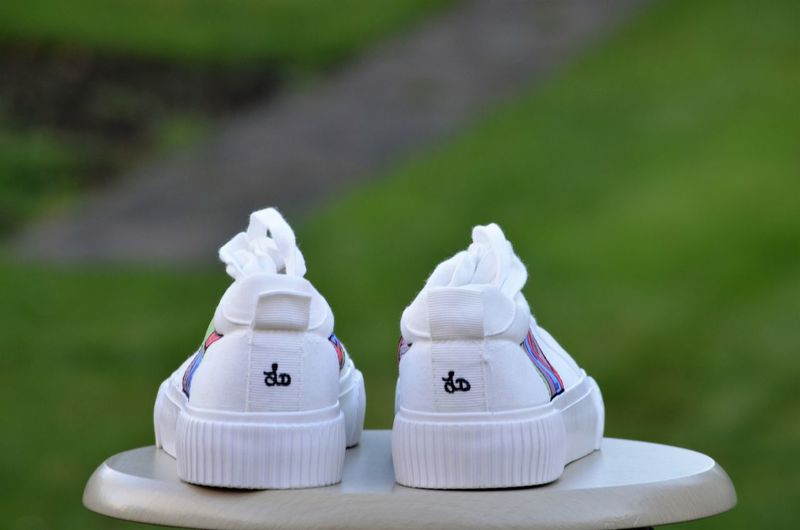 Close-up of white shoes