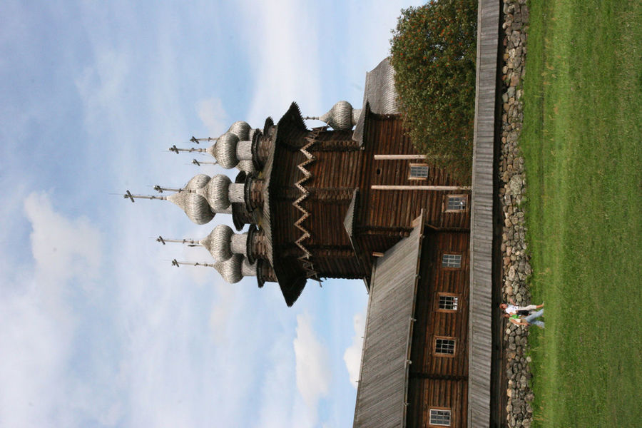Church Historical Building Historical Monuments Karelia Kizhi Russia Wood Church Wood Houses