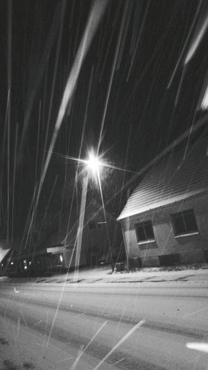 Night Illuminated Street Light Long Exposure Building Exterior Architecture No People Outdoors City Snow ❄