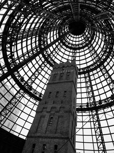 Melbourne Central Victoria Australia Melbourne Central EyeEmNewHere Black And White Photography Australia Melbourne Australia Low Angle View Architecture Built Structure No People Pattern Day Indoors  Ceiling Glass - Material Travel Destinations
