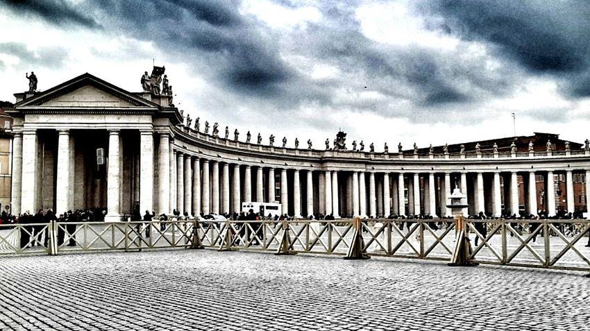 Rome Italy Vatican Roma Vaticano Piazza San Pietro Basilica Di San Pietro Winterinrome