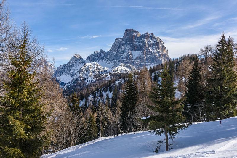 Dolomites, Italy Monte Pelmo Winter Cold Temperature Italy Mountain Scenics Snow Veneto