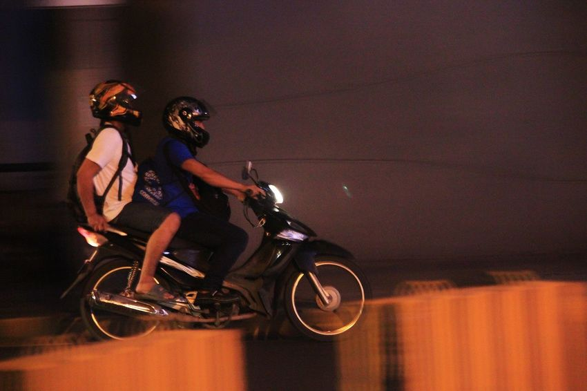 Panning Panning Shoot Panningphotography Blurred Motion Street Riding Speed Adults Only Adult People Headwear Motion Transportation Men Outdoors Night Helmet Only Men