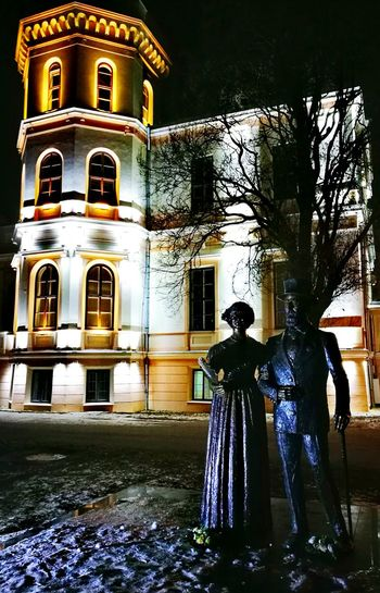 Night Travel Destinations No People Vacations Illuminated Indoors  EyeEmNewHere The Week On Eyem Architecture Sculpture Statuettes Outdoors Castle Nako Castle Adapted To The City Uniqueness