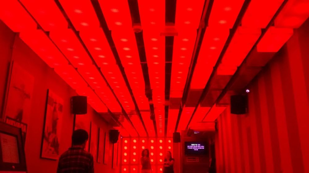 Red Indoors  Built Structure Architecture Illuminated Night KaraokeNight Funny Moments