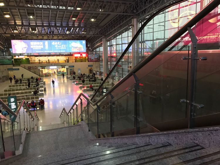 Coach Station, Hangzhou, Zhejiang, China Indoors  Architecture Real People City Building Exterior Low Angle View