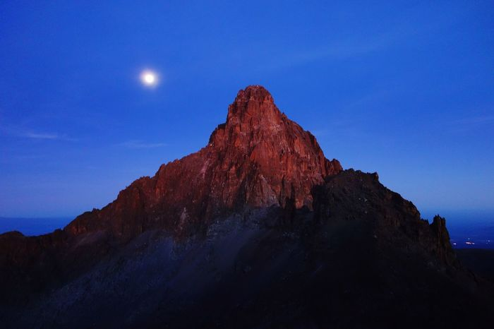 Beutiful view over Mount Kenya Mount Kenya Mountain Mountain Sunrise Mountain View