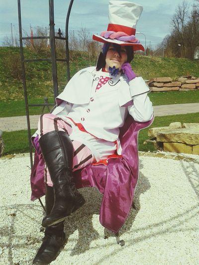 Mephisto Pheles (ich) aus Ao No Exorcist in der Gartenschau in Kaiserslautern Cosplay
