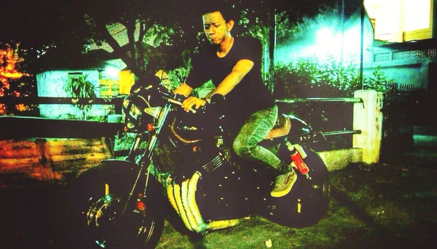 We ride together we die together - bad boys for life - Honda CB400 Superfour Bikers Caferacer Surabaya INDONESIA First Eyeem Photo
