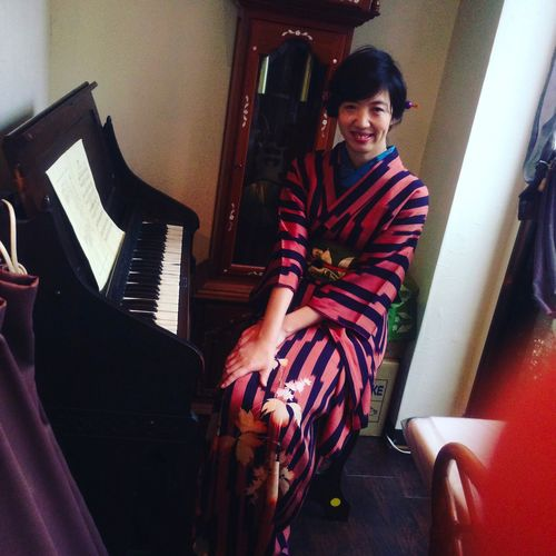 I felt kimono model at Yumeji art museum in Tokyo!