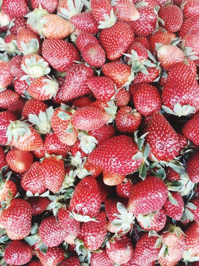 Full frame shot of strawberries