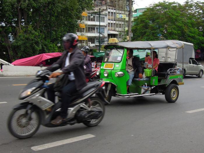 Motorcycle on roadside