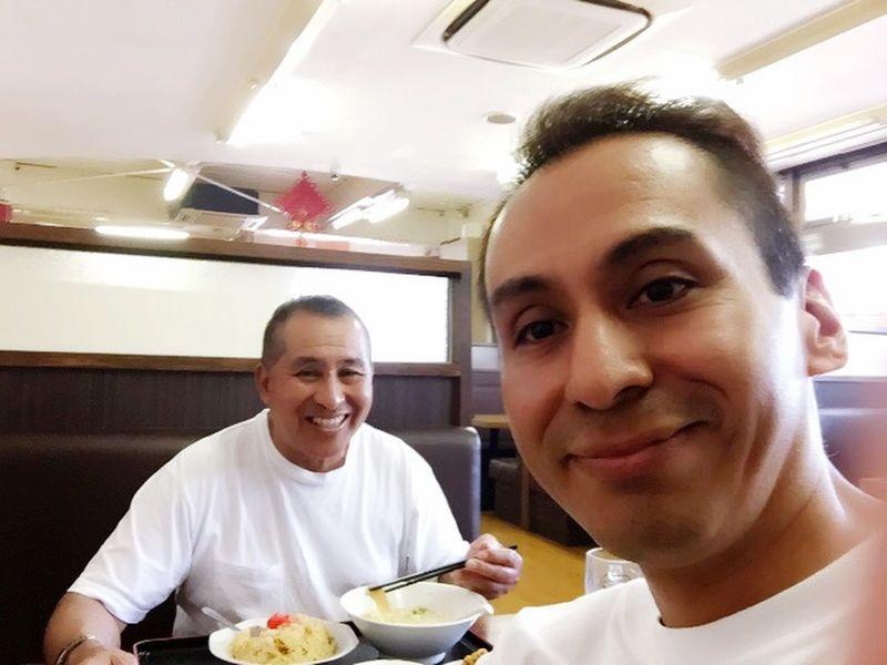 一昨日お父さん一緒に食事した(^ν^)楽しかった(^ω^) Hello World Dinner Time Dad Happy :)