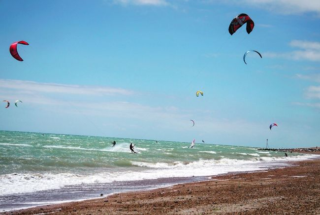 Kitesurfing 6 Sea Beach Kiteboarding Adventure Extreme Sports Water Wave Leisure Activity Parachute Horizon Over Water Surf Surfing Real People Sky Nature Vacations Sport Lifestyles Scenics Day