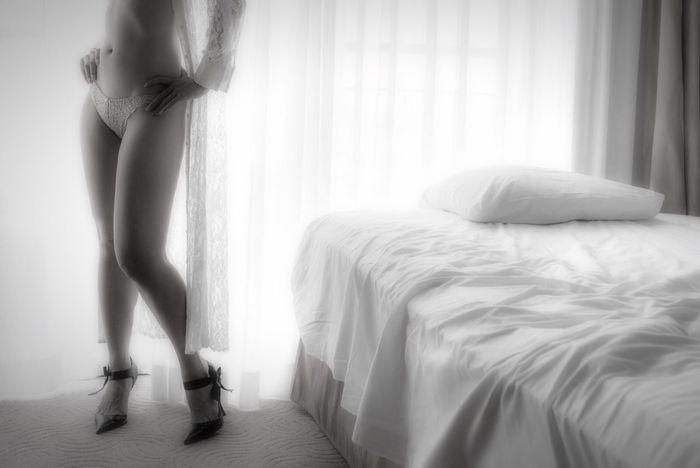 AWOI Curtain Sheets Monochrome Black & White