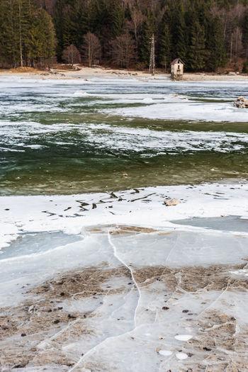 Predil lake in