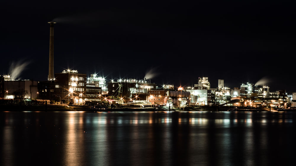 Industry Ludwigshafen Mannheim Reflection Basf Factory Illuminated Long Exposure Night No People Outdoors Sky Water Waterfront