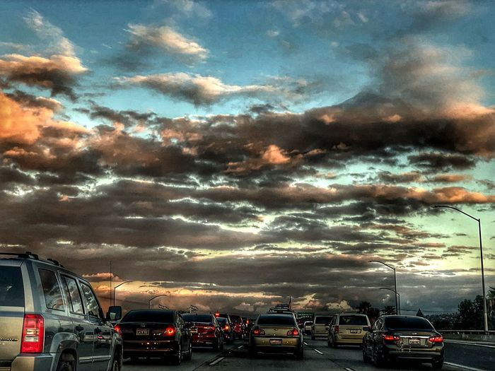 Was quite the drive Cloudscape Clouds And Sky HDR Hdr_Collection Cloud - Sky Sky Transportation Mode Of Transportation Motor Vehicle Land Vehicle Car Sunset Dusk Dramatic Sky