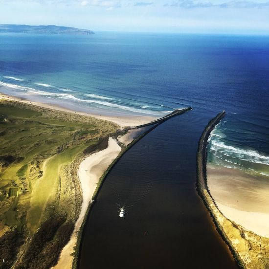 Northern Ireland Down Hill North Atlantic River Sea Mussenden Temple Portstewart River Bann Sun Nature