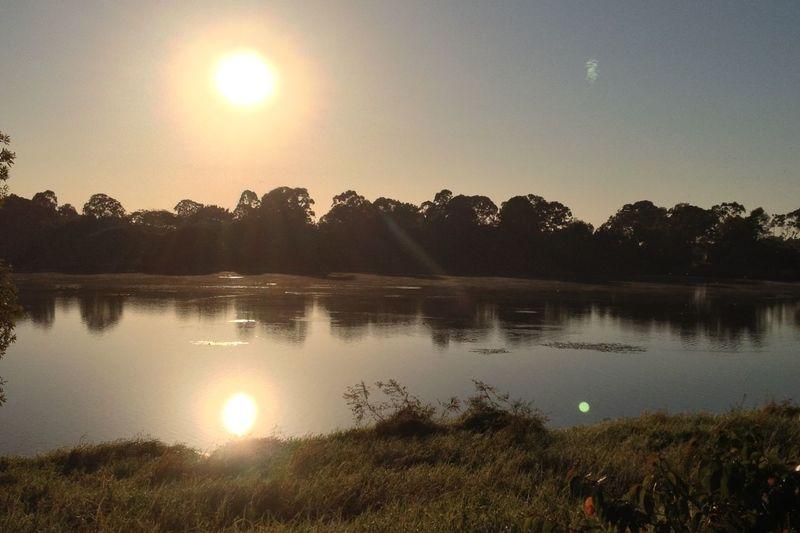 Sandgate Lagoon Sunrise Reflection