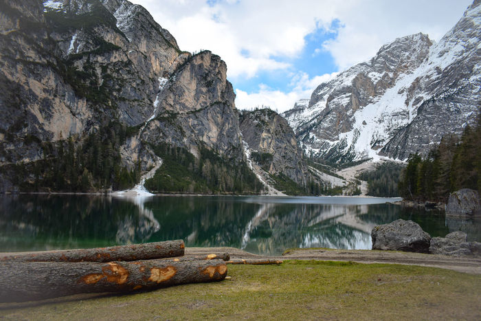 Alps Beauty In Nature Cloud - Sky Lago Di Braies Lago Di Braies (Pragser Wildsee) Lagodibraies Lake Lake View Landscape Mountain Mountain Range Nature Reflection Tree Tyrol-Austria Water Wood