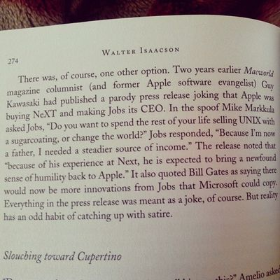 Hilarious passage in Steve Jobs Biography and highly Ironical! Steve Jobs Apple Biography