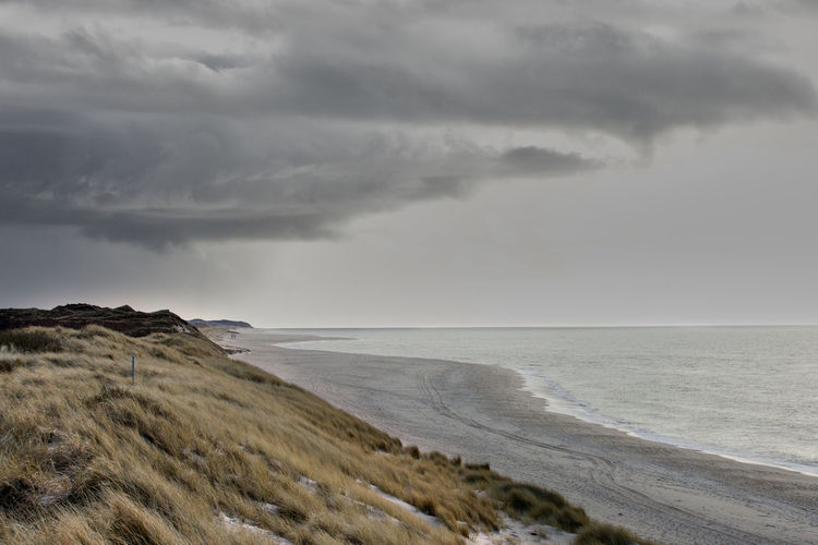Cloud - Sky Sky Sea Water Horizon Horizon Over Water Land Beauty In Nature Storm Beach Scenics - Nature Nature Overcast No People Tranquil Scene Tranquility Storm Cloud Environment Outdoors Ominous Power In Nature Sylt Sylt, Germany Sylt_collection