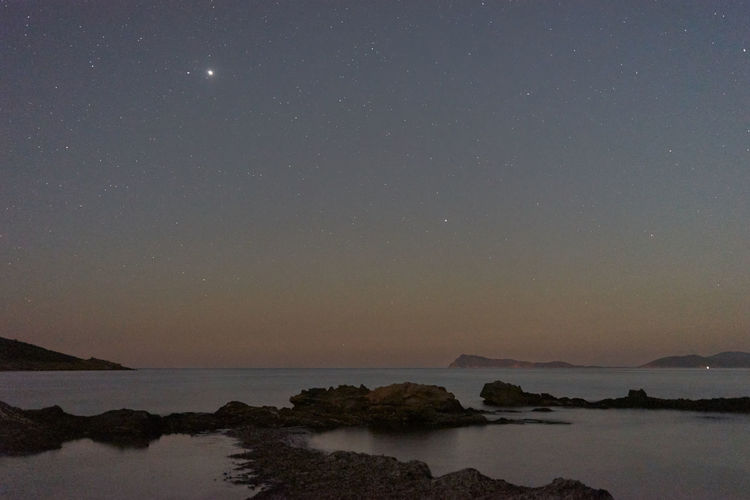 Water Sky Scenics - Nature Beauty In Nature Tranquility Tranquil Scene Sea Night Star - Space Space Idyllic Astronomy Nature No People Non-urban Scene Waterfront Galaxy Mountain Star Nightphotography Nightscape Nightshot Sardegna Sardinia Sardegna Italy  My Best Photo