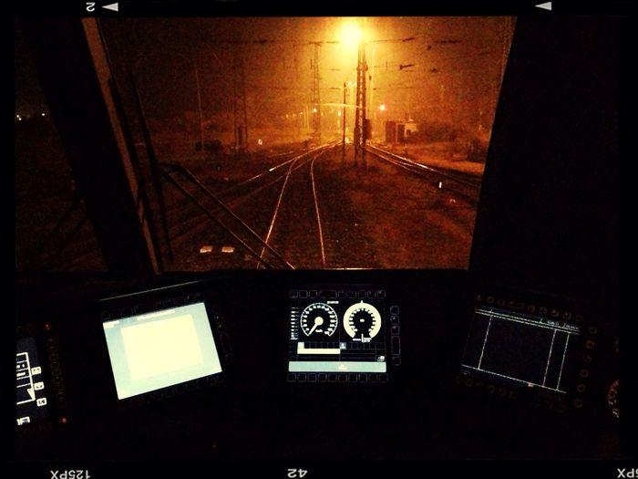 Frachtenbahnhof Hegyeshalom Night Train Railway Führerstand