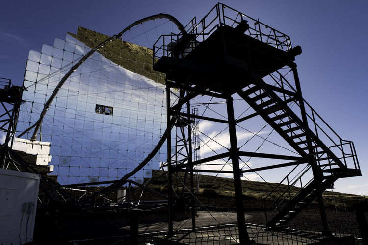 Canary Islands Mirror Reflection Architecture Astronomy Built Structure Day Florian Goebel La Palma Low Angle View No People Outdoors Roque De Los Muchachos Sky Space Telescope