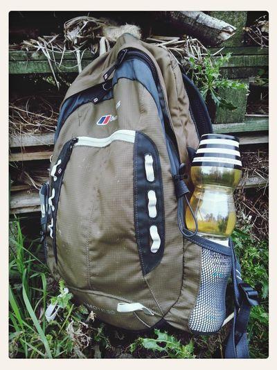 Wine in a rucksack!