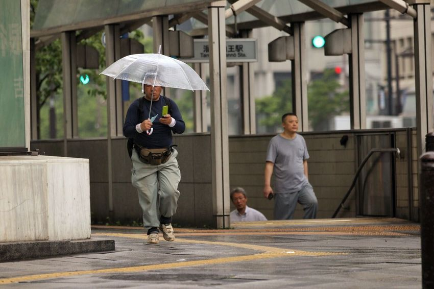 Outdoors Day People City Street Zoom Rain Umbrella Kobe, Japan Japan Man