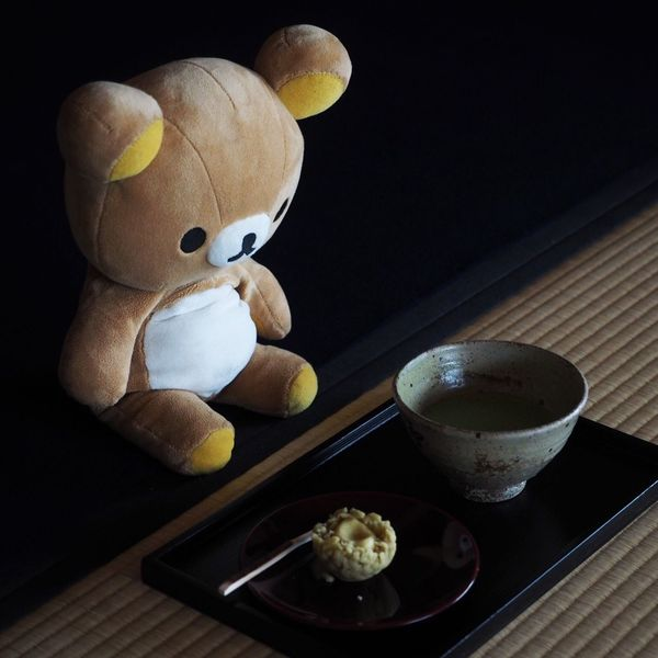 Stuffed Toy Rilakkuma Powdered Green Tea And Japanese Sweets Melancholic Landscapes Powdered Green Tea