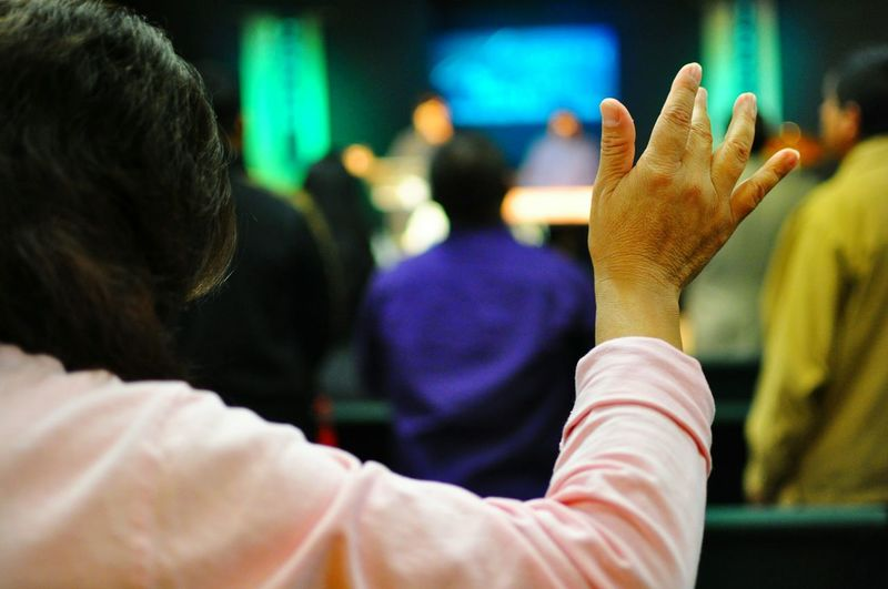 Showcase: November Photography Anonymousnate Worship Church Hands Lady Lights Stage Praising The Lord Praise Prayer Hands Up