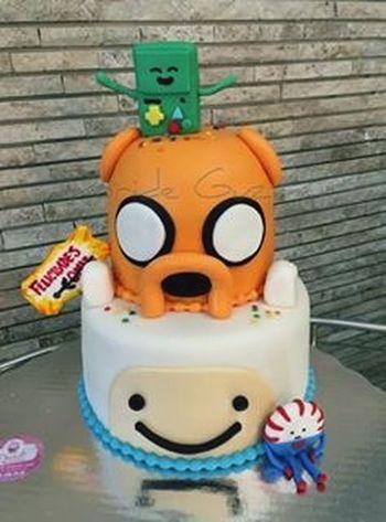 Pastel de cumpleaños para mi novio Adventure Time HappyBirthday Horadeaventura  Finn And Jake
