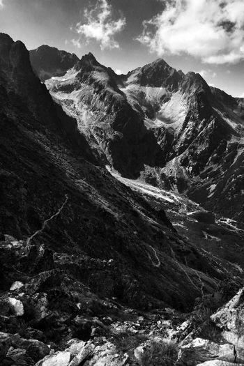 High Mountain Treking Hiking Majestic Nature Mountain View Tatra Mountains Tatry Beauty In Nature Blackandwhite Blackandwhite Photography High Mountains Hiking Trail Hikingadventures Hiking❤ Landscape Majestic Mountain Mountain Peak Mountain Range Mountains Nature Scenery Scenics Slope Tranquility Summer Exploratorium
