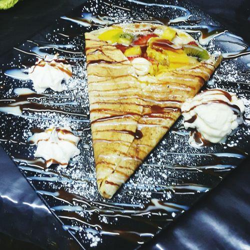 Crepe Multi Colored Crepe Cake Crêpes Crepas