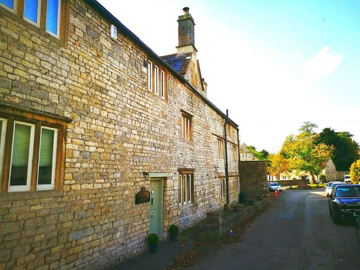 Architecture History No People Outdoors Day Sky Cotswold Cottage Cotswold Stone Autumn Colours Rural Scene Idyllic Village Cotswold Way Cotswolds Building Exterior Built Structure Cloud - Sky House