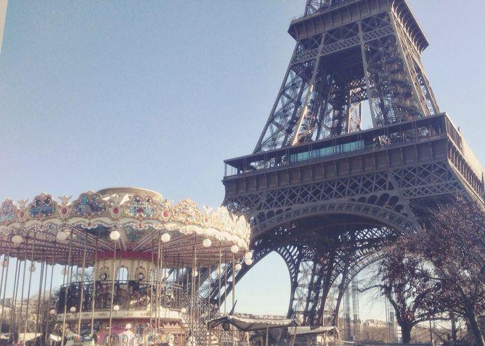 Best City Ever! Paris Tour Eiffel Traveling Carousel