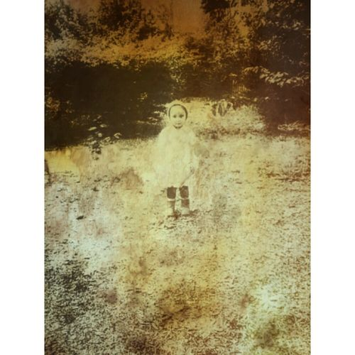 I hope it's obvious, I deliberately wanted to make this look like an old faded, water-damaged photo. Also, my mother Diana Z. took the photo--I only did the editing. Old Photo Old Faded Photo Faded Photo Blackandwhite Black And White Monochrome Sepia Old Water Damage Destroyed Child Standing Alone Field Child In Field Child Standing Baby Baby Girl Outside Outdoors Old Picture Old Photograph Damaged Little Kid Girl