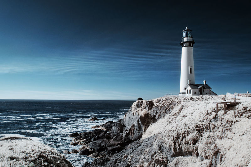 Lighthouse in Infrared Infrared Light House Architecture Beauty In Nature Building Exterior Built Structure Day Direction Guidance Horizon Over Water Infrared Photo Infrared Photography Lighthouse Nature No People Outdoors Protection Safety Scenics Sea Sky Tranquil Scene Tranquility Water Wave California Dreamin