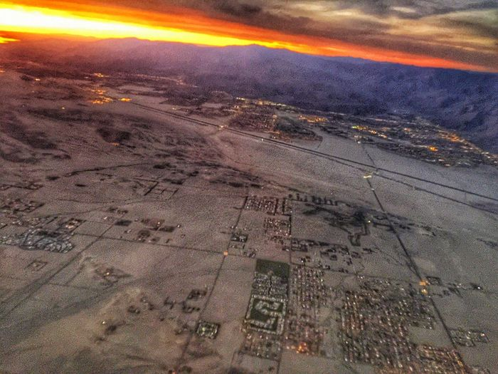 Showcase: December Flight To New York View Of Palm Springs Sunrise