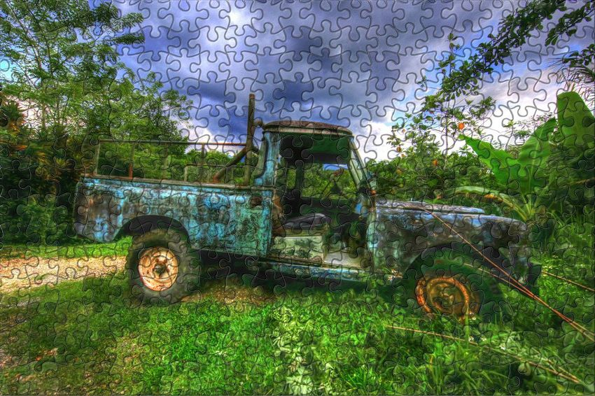 By The Roadside Wreck Abandonded Car Wreck Dilapidated Jamaica Not Roadworthy Pickup Truck