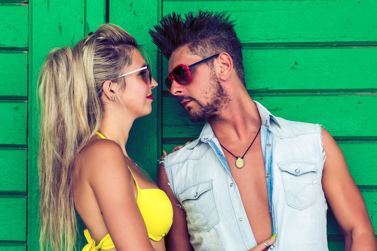 Glasses Young Adult Togetherness Young Men Love Young Women Couple - Relationship Two People Real People Men Bonding Sunglasses Adult People Heterosexual Couple Women Emotion Positive Emotion Leisure Activity Young Couple Fashion Hairstyle Beautiful Woman