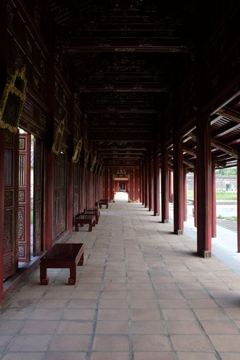 Forbidden City Imperial Palace Travel Photography Viet Nam Vietnam Architecture Corridor No People Vietnam Trip
