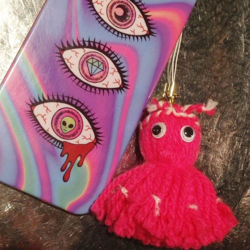 Kraken Octopus Tako 蛸 😚 たこ Handy Mobile IPhone IPhoneography Augen Eyes Alien 390 Pink Color Pink KAWAII Handmade Pop Colorful Bunt Neu New Newone Red