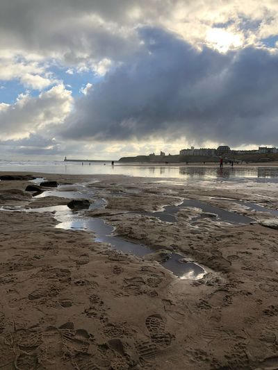 Low tide at the