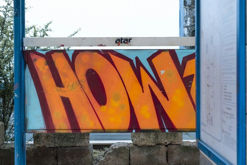 Waiting Graffiti Street Orange By Motorola Hating Public Transportation Metro Station How Lettering My View Suburban